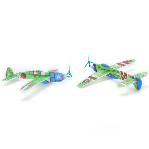 12X//Set Foam Glider Prop Flying Gliders Plane Aeroplane Children DIY Toys  DJ