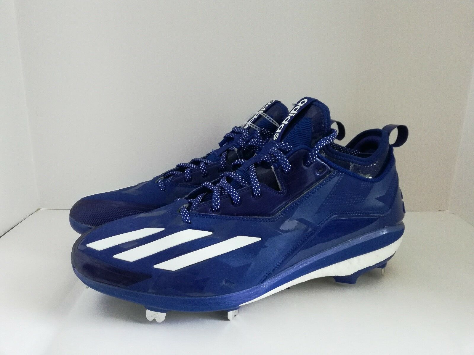 Adidas Energy Boost Blue/White Icon Metal Baseball Cleats Blue/White Boost B72825 Mens Size 12.5 77b445