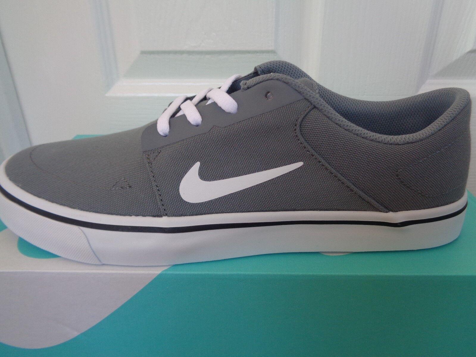 Nike SB Portmore CNVS Canvas Grey White Mens Skateboarding Shoes ... be0e7a00f