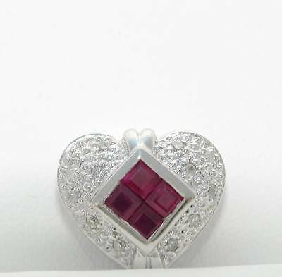 KLEIN SLIDE DIAMOND RUBY HEART SLIDER BRACELET 14K NEW REDUCED