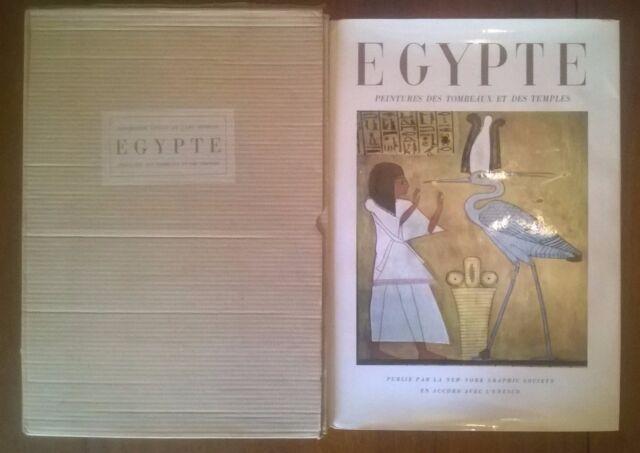 Egypte - Peintures des tombeaux et des temples - JACQUES VANDIER - Superbe