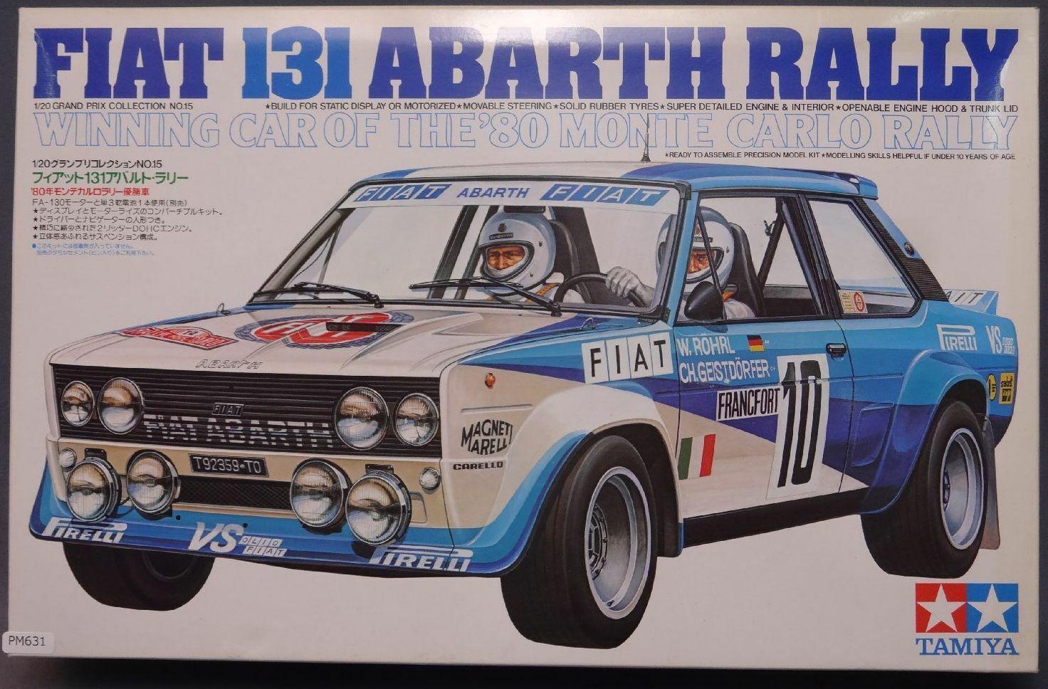 1   20 - skala tamiya fiat 131 abarth rallye - auto rohrstabilisierungseinheit display pm631