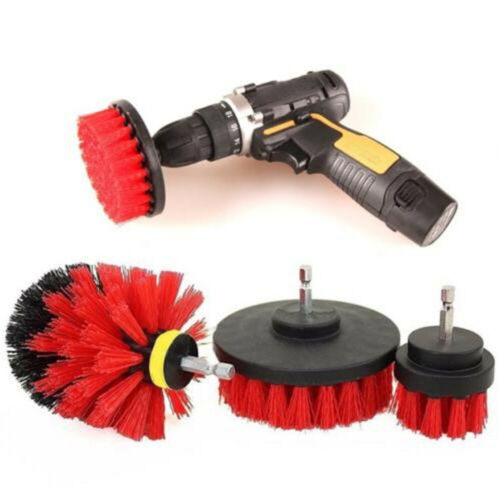 Car Wash Brush Cleaner Hard Bristle Drill Auto Detailing Cleaning Tools 3pcs//set