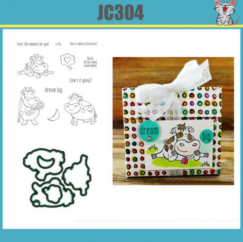JC304 OVER THE MOON Metal Cutting Dies and stamps Price include STAMP and DIE