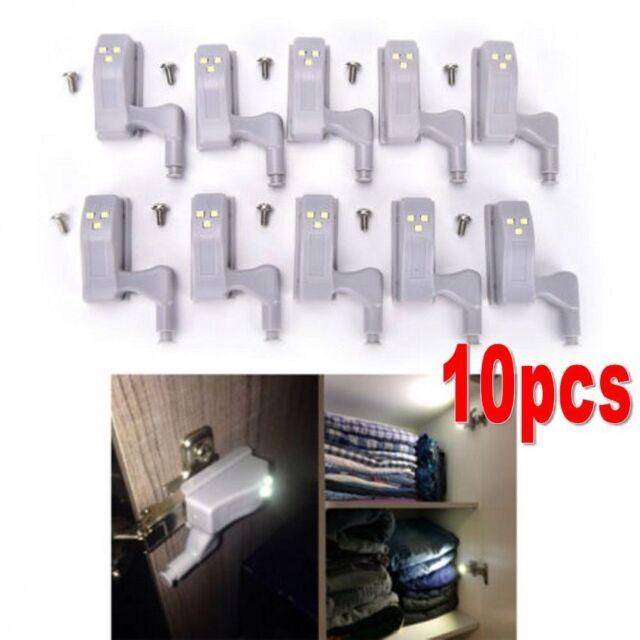 10pack cabinet hinge led sensor light for wardrobe cupboard home