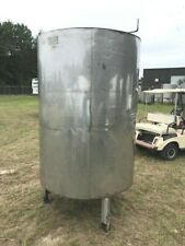 500 Gallon 316 Stainless Steel Insulated Tank Closed Top Cone Hinged Lid