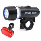 Waterproof Bright 5 LED Bike Bicycle Cycle Front & Rear Back Tail Lights Light