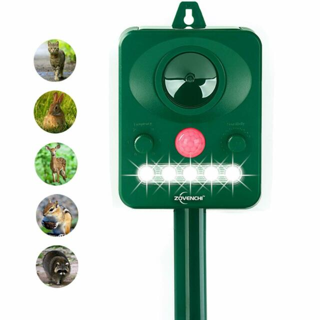 Solar Powered Ultrasonic Pest Repeller Motion Activated Outdoor Animal B1X4