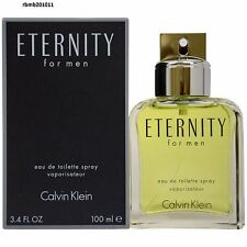 Eternity Cologne Perfume by Calvin Klein 3.4 oz 100 ml EDT Spray Men New Sealed