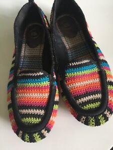 The Sak Crochet Colorful Woven Ballet Flats Womens Size 8 Shoes