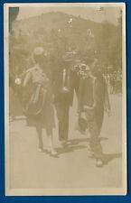 Street Walkers people Catalina Island 1940s RPPC Real Photo Postcard ANSCO