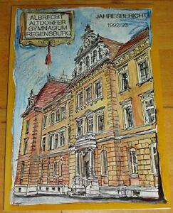 Regensburg-1992-93-alter-Jahresbericht-Albrecht-Altdorfer-Gymnasium-Geschenk-Abi