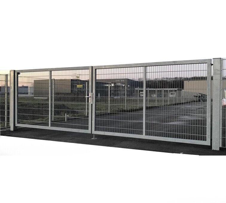 Doppelflügeltor 800cm x 200cm Einfahrtstor für Tor Industrie mit stabilem Rahmen