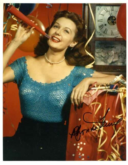 RHONDA FLEMING PSA DNA Coa Hand Signed 8x10 Photo Autograph Authentic