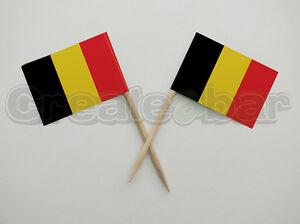72-Belgian-Flag-Picks-Buffet-Sandwich-Food-Party-Sticks-BELGIUM-Flags