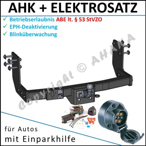 AHK ES7 VW Crafter 2006 Kasten Anhängerkupplung DPC EPH-Abschaltung komplett