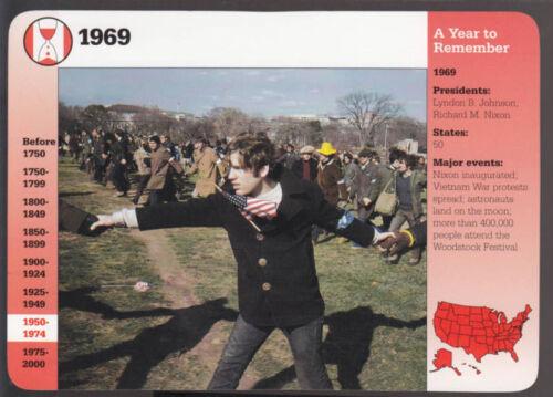 1969 guerra del Vietnam proteste Washington DC foto GROLIER Story of America CARD