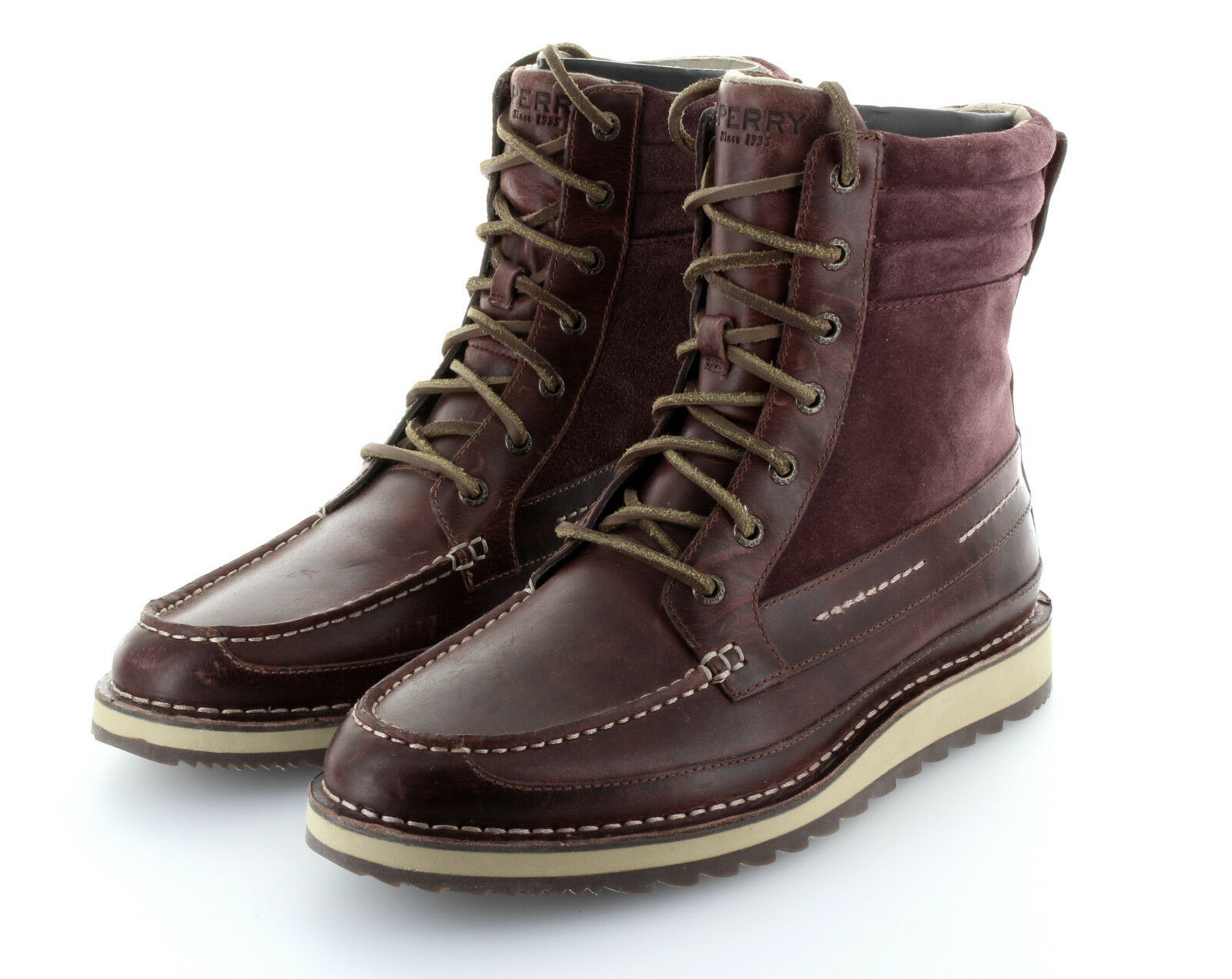 Sperry Top Sider Dockyard Boot Oxblood Stiefel Leder Schuhe Gr. 42 / US 9