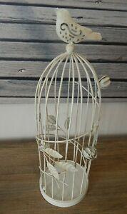 RUSTIC-VINTAGE-STYLE-METAL-BIRDCAGE-CANDLE-TEA-LIGHT-HOLDER-CREAM-BIRD-UK-SELLER