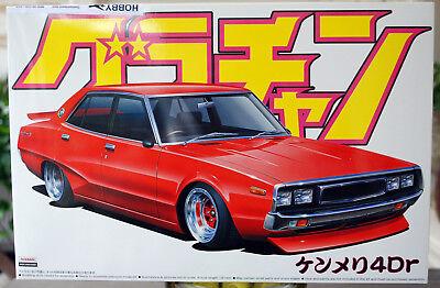 Aoshima 042717 1972 Nissan Skyline 2000 GTX 4 Door Grand ...  1972 Nissan Skyline Jdm