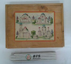 Alter Holzbaukasten altes Holzspielzeug DDR Bauklötze Haus Fenster alt Kinder