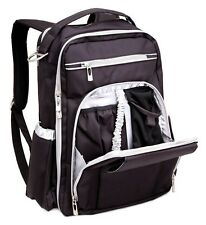 Ju Ju Be Legacy Be Right Back Backpack Baby Diaper Bag Black Silver NEW