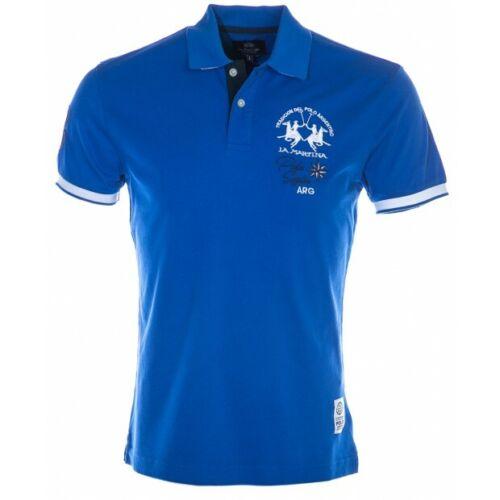 LA MARTINA POLO Hemd groß LOGO NMP324 Argentina VICTORIA blau Baumwolle Mann
