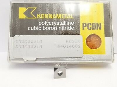 Kennametal CBN DNGA 432 150408 KB9610 fits DNMG 2 PCBN tips per Carbide Insert