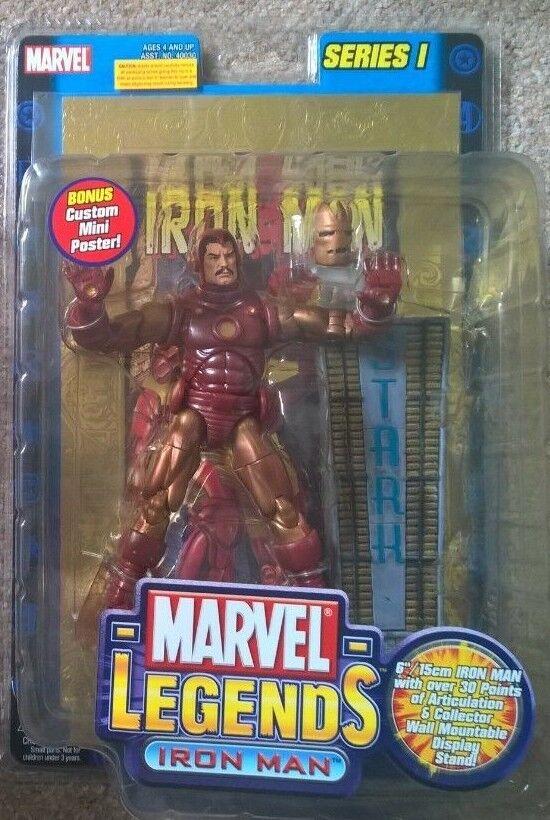 Spielzeugbiz Marvel Legends serie 1 Gold Iron Man Foil poster variant