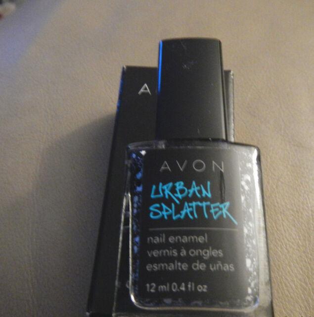 3 Avon Urban Splatter Nail Enamel Blackout Green Modern Graffiti