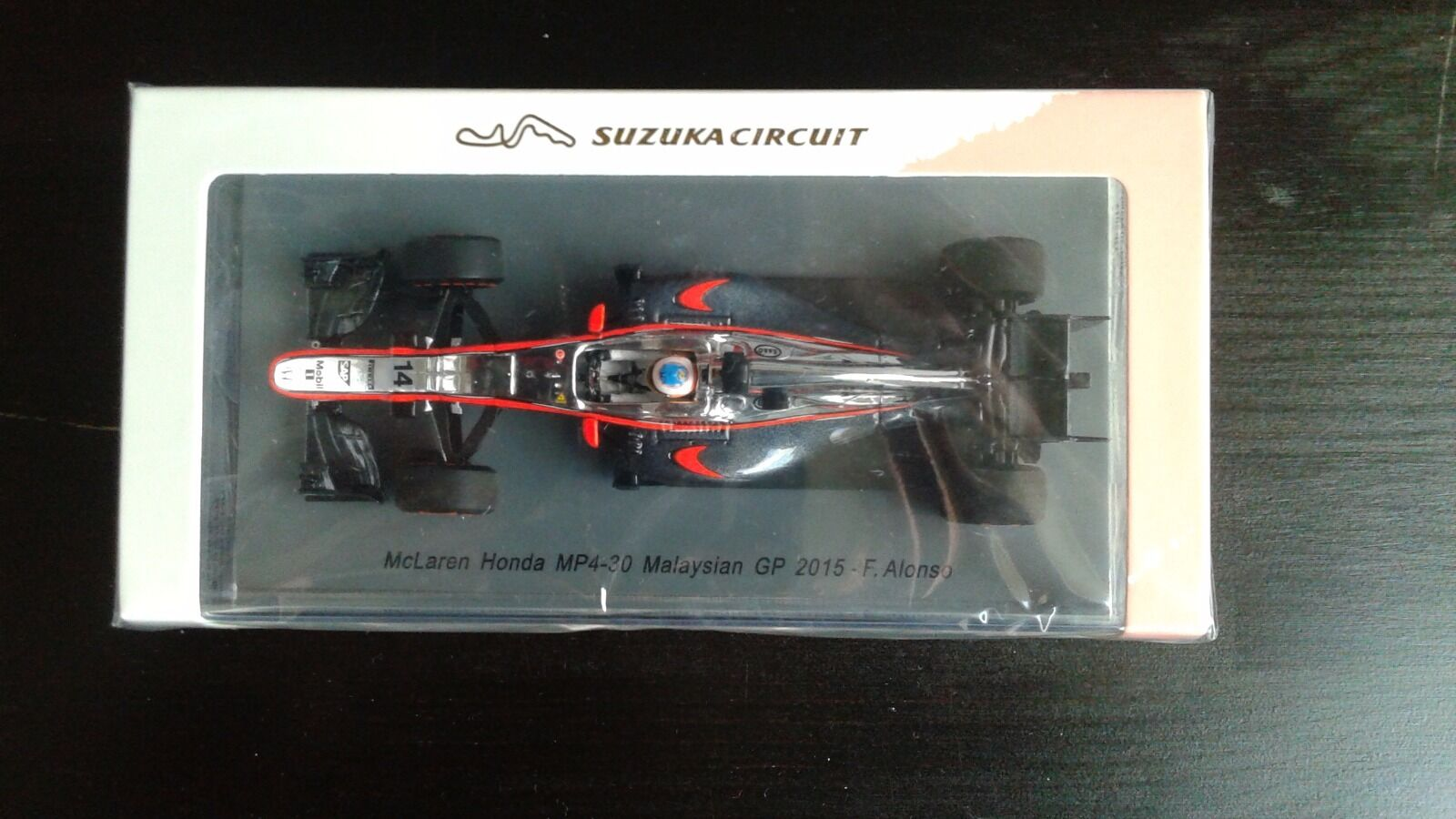 McLaren Honda MP4-30, Fernando Alonso Malaysian GP 2015 2015 2015 Suzuka circuit 1/43 | Insolite  d98773