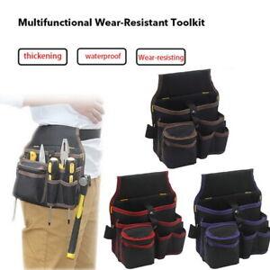 Electrician-Tool-Bags-Waist-Pocket-Belt-Storage-Screwdriver-Kit-Holder-Bag
