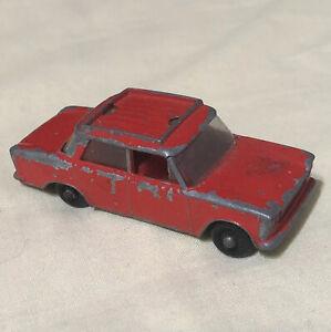 Lesney-Fiat-1500-Vintage-Juguete-Diecast-Car-No-56-Matchbox-version-rara-Rojo