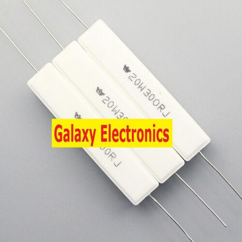 5 un nuevo 20w 300 Ohm 300RJ Resistor de llama resistencia de cemento