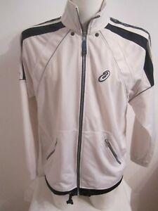 Details about Vintage Mens Asics shell jacket TRACKSUIT TRACK TOP JACKET m medium white blue
