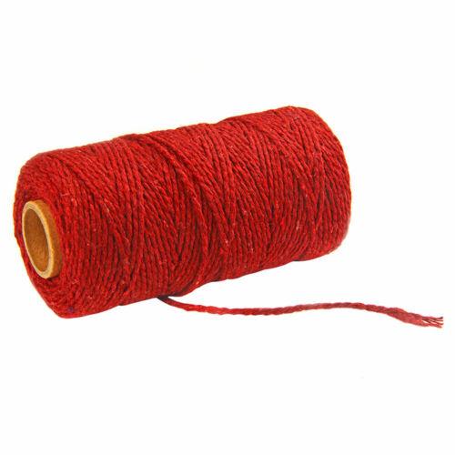 100m long //100 Yard Pure Cotton Twisted Cord Seile Craft Macrame Artisan Strings