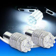4x 1156 Ba15S Rv Trailer Interior 12V White Light Bulbs/Bulb 63-LED