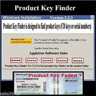 Professional License Key code  Finder , Window XP, 7 ,8.1 & 10 CD  New 2016