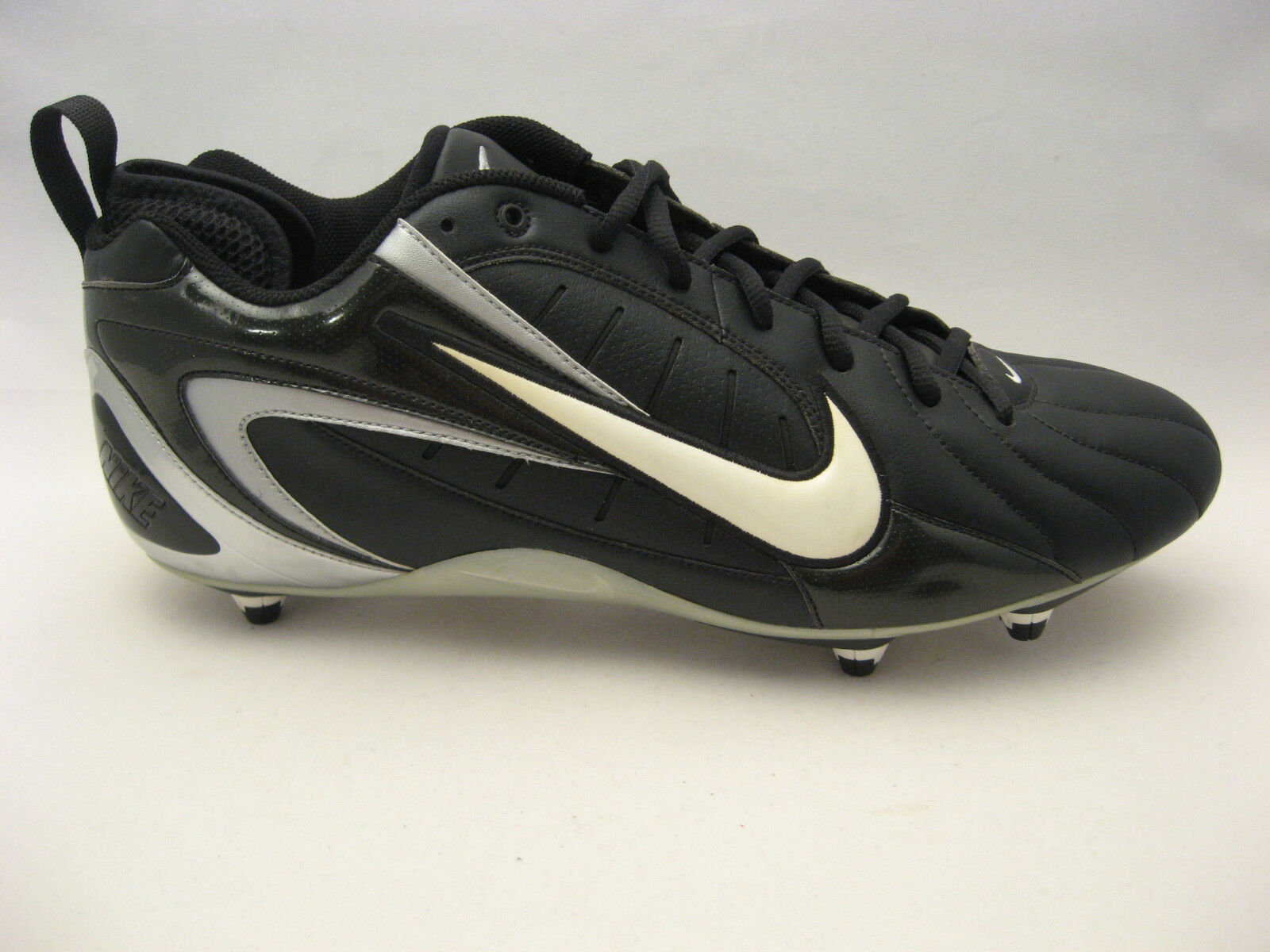 Nike Mens Super Speed D Football Cleats 15 Black White 313409-011 Pro Style