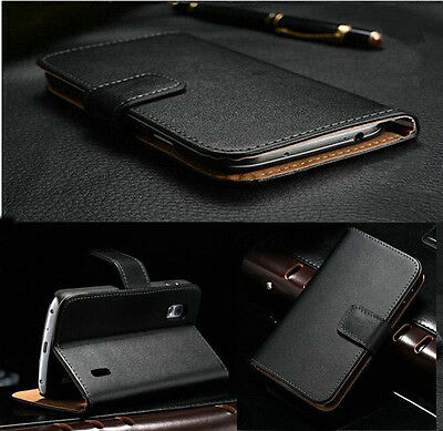 New Luxury Black Folio Magnetic Wallet Leather Stand Case Cover For Smart Phones