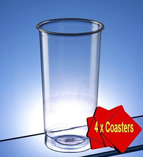 Plastic Highball GlassSlim JimTall Glass 340ml 12 oz Clear pack 150