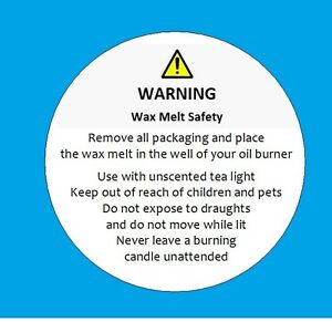 Wax Melt Safety Stickers Requirement By Law 105 Ebay