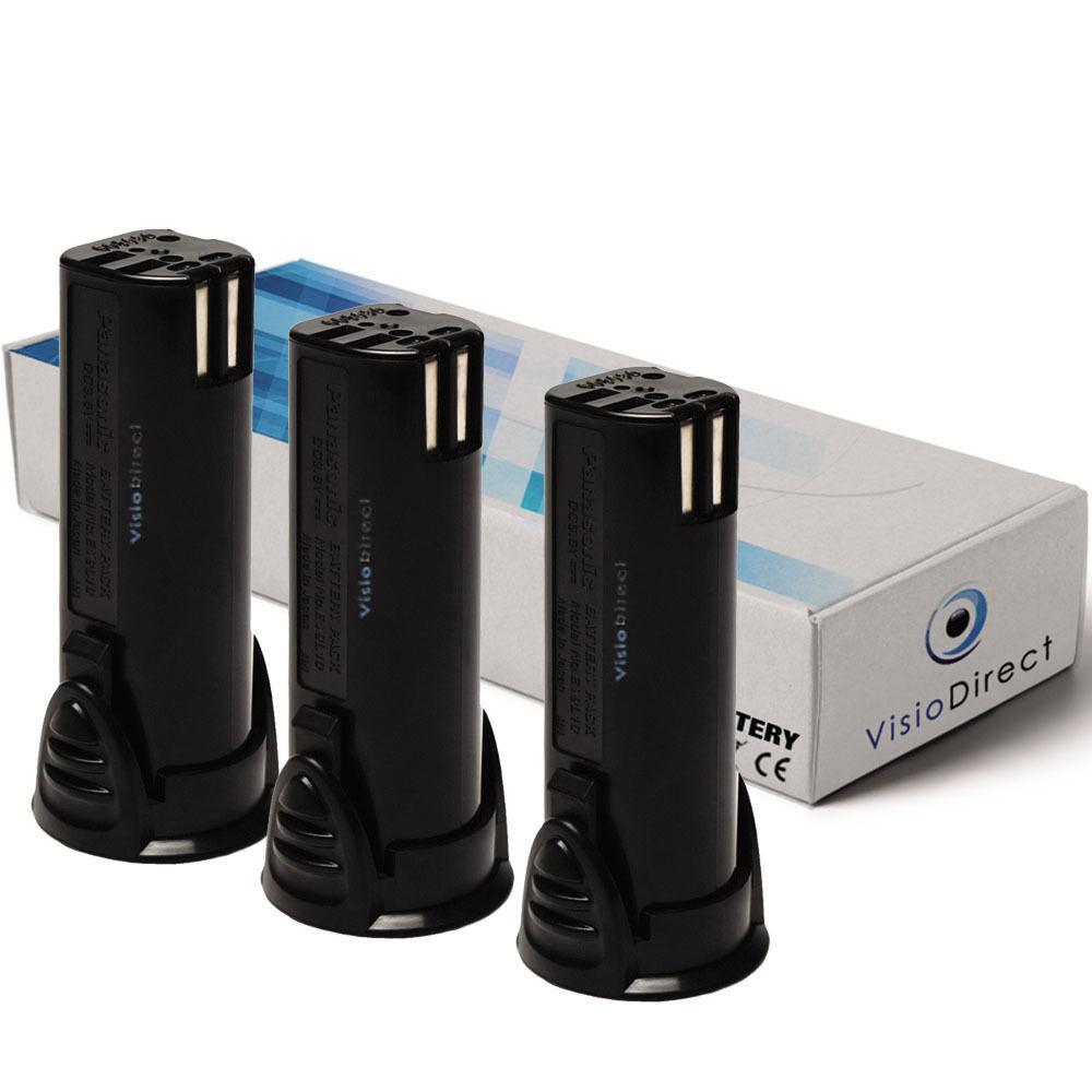 Lot de 3 batteries 3.6V 1500mAh pour Panasonic National EY7411LA1C