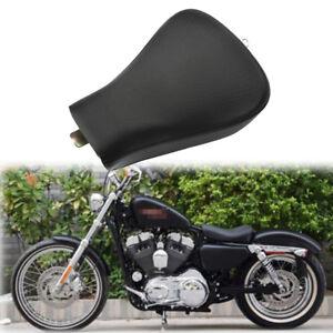 Schwarz-Solo-Sitz-Sitzbank-Sitzkissen-Sattel-fuer-Harley-Sportster-Forty-Eight-XL