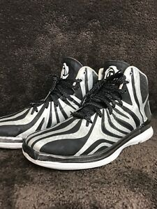 outlet store dccb9 07653 Image is loading Adidas-Derrick-D-Rose-4-5-Black-silver-