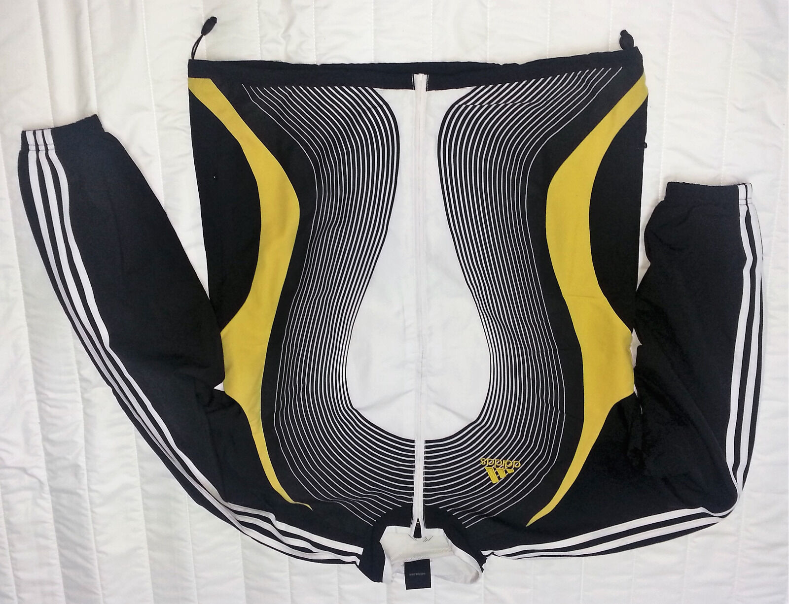Adidas Jacke Handball Präsentation Präsentationsanzug 745520 schwarz weiß Gold