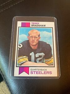 Football Card 1973 Topps # 15 Terry Bradshaw Pittsburgh Steelers EX Steelers Deans Cards 5