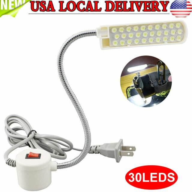 30 LED Sewing Machine Lamp Magnetic Base Switch Working Light AC 110V-220V