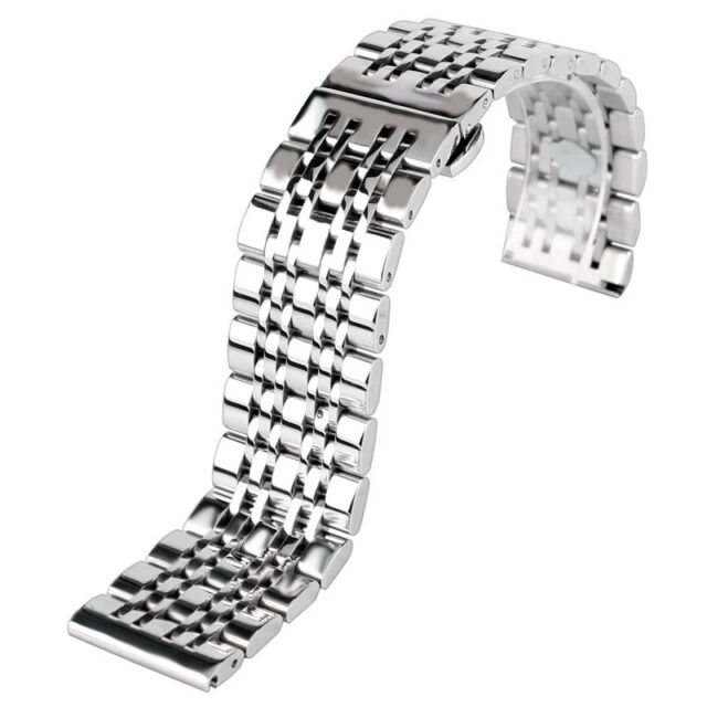 20/22/24mm Stainless Steel Men Watch Band Silver Strap Watchband Replacement