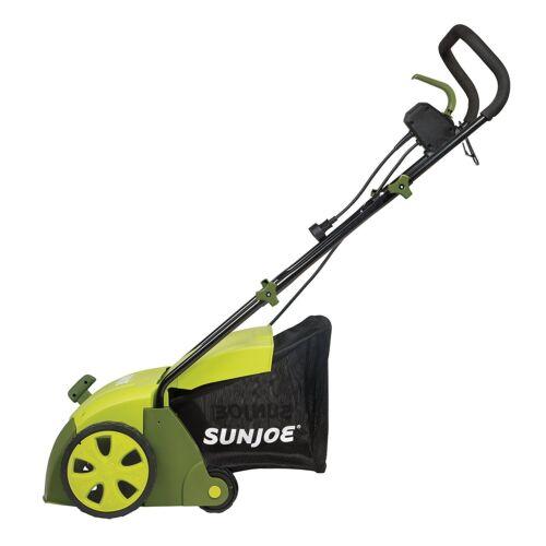 Sun Joe AJ801E 12-Amp Electric Scarifier Plus Lawn Dethatcher /& Collection Bag